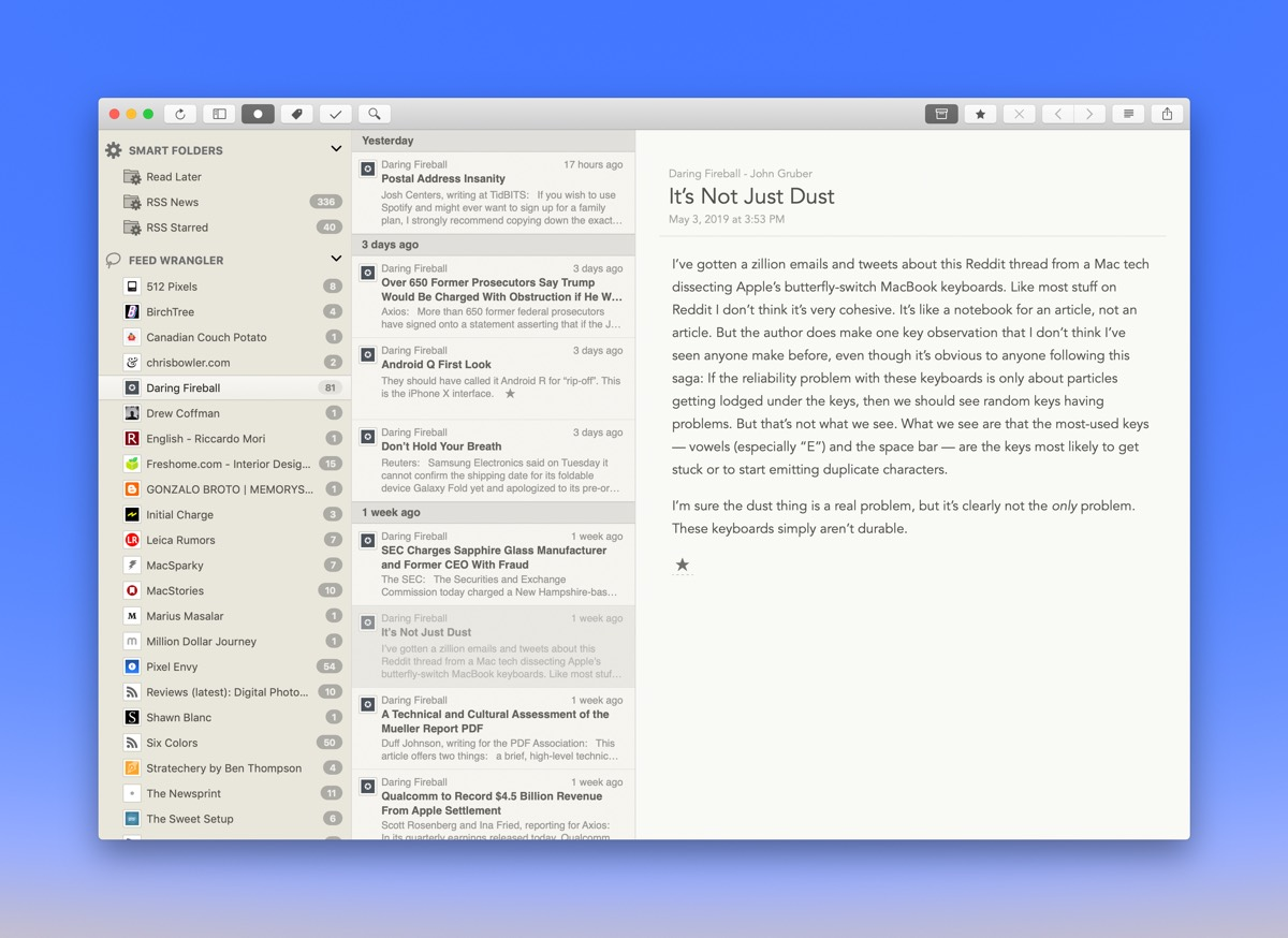 The Best Rss Reader For Mac Updated For 2019 And Reeder 4