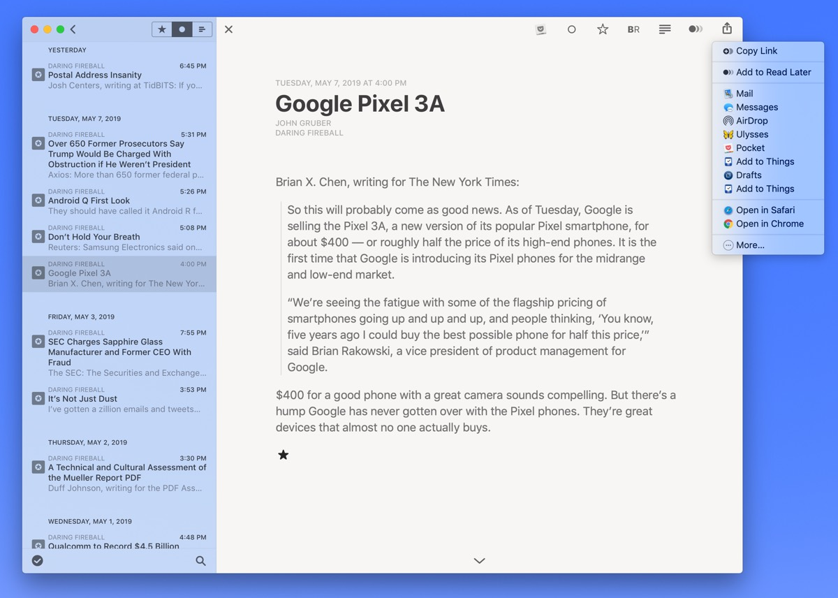 The Best RSS Reader for Mac (Updated for 2019 and Reeder 4)