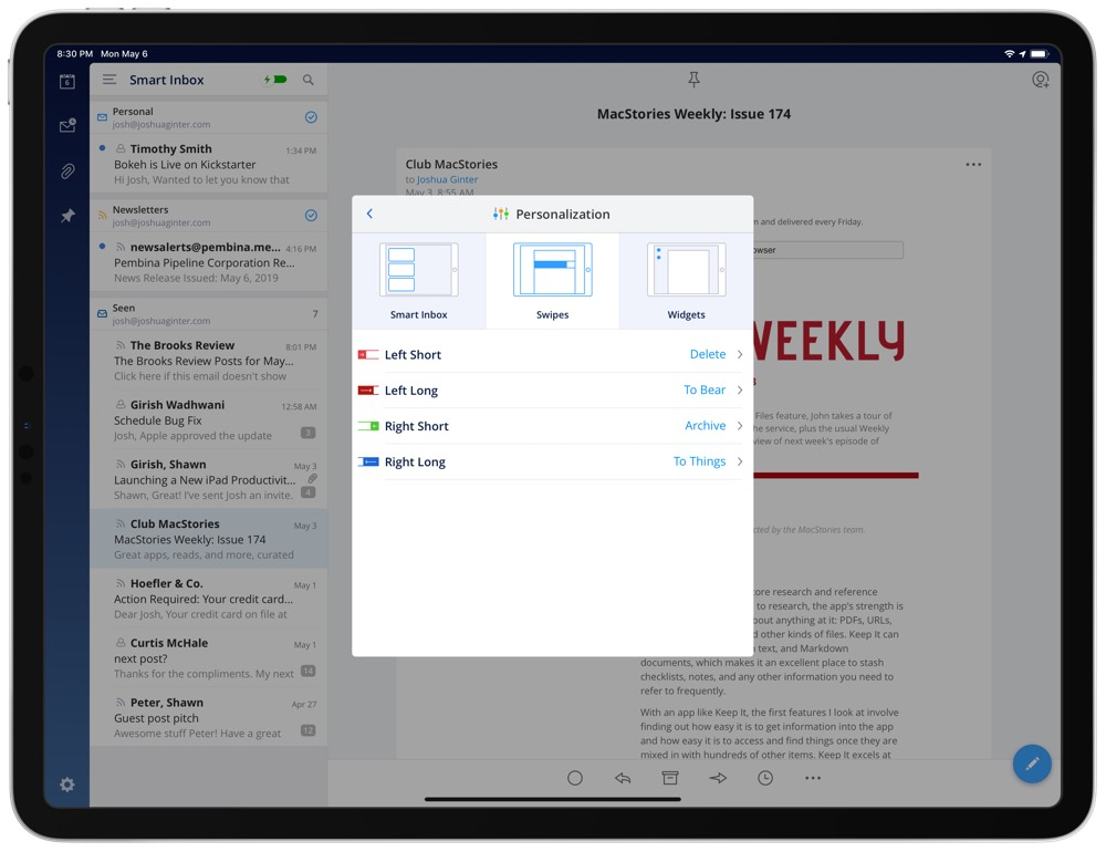 Spark: Best iPad Email App