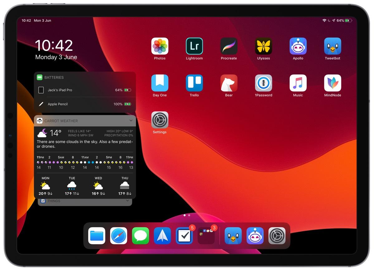 Jack Bishop's iPad