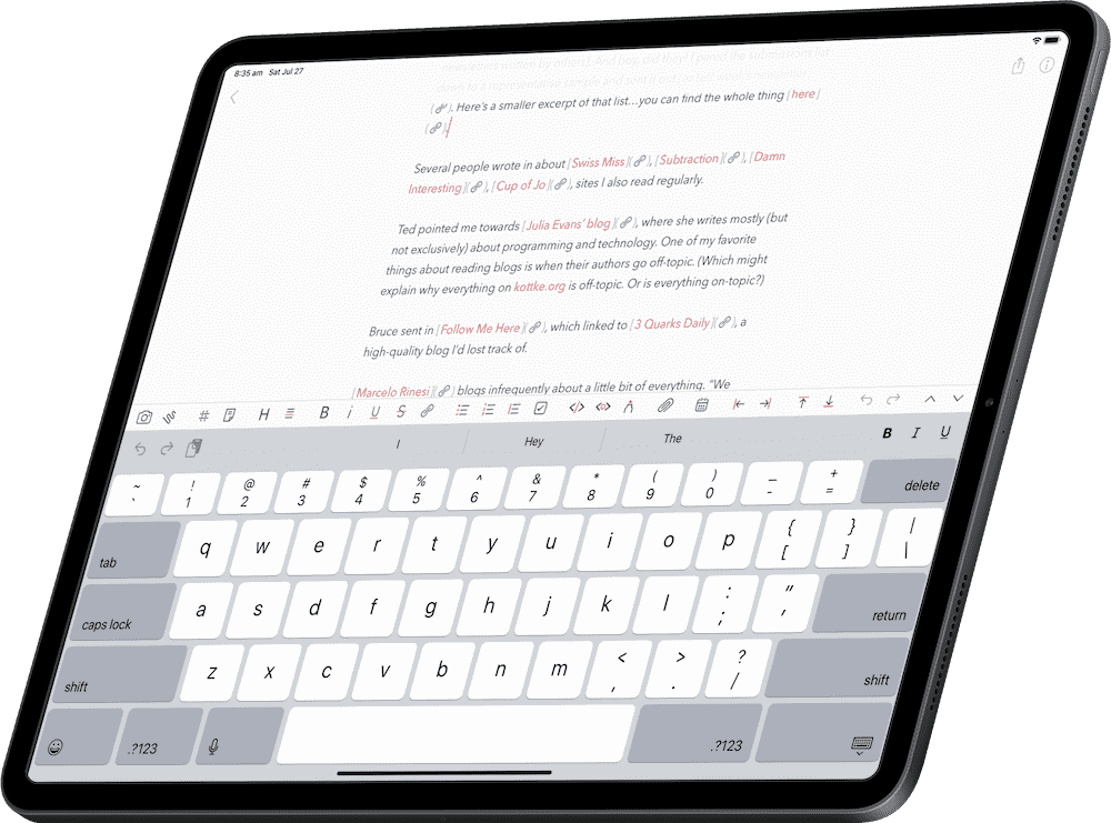 The best notes app: Bear