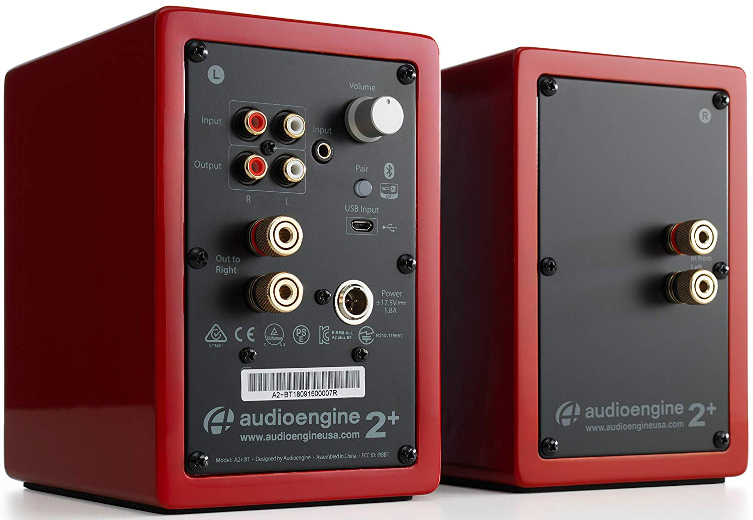 Audioengine A2+ Wireless Computer Speakers — Backside