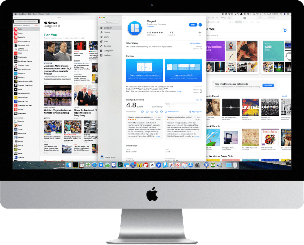 Magnet Brings Windows 10-Style Window Management to macOS – The