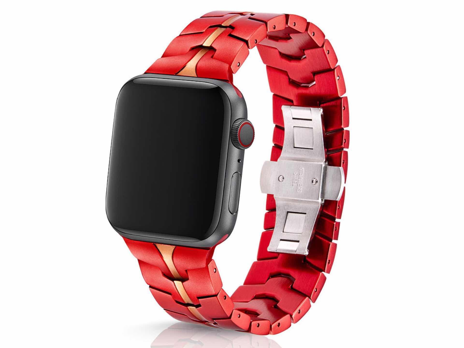 "Juuk ""Vitero Crimson"" Apple Watch Band"