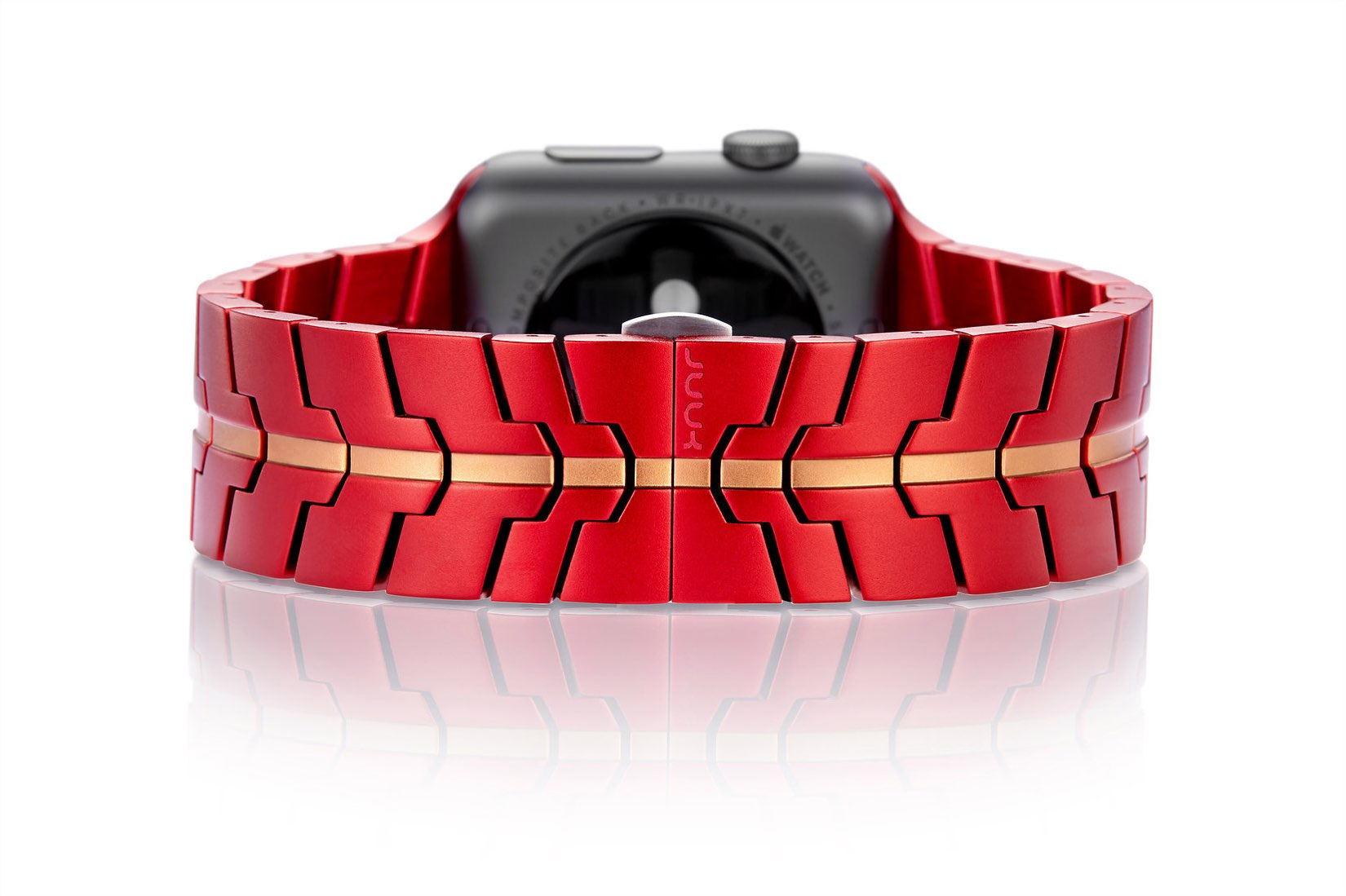 "Juuk ""Vitero Crimson"" Apple Watch Band — Back"