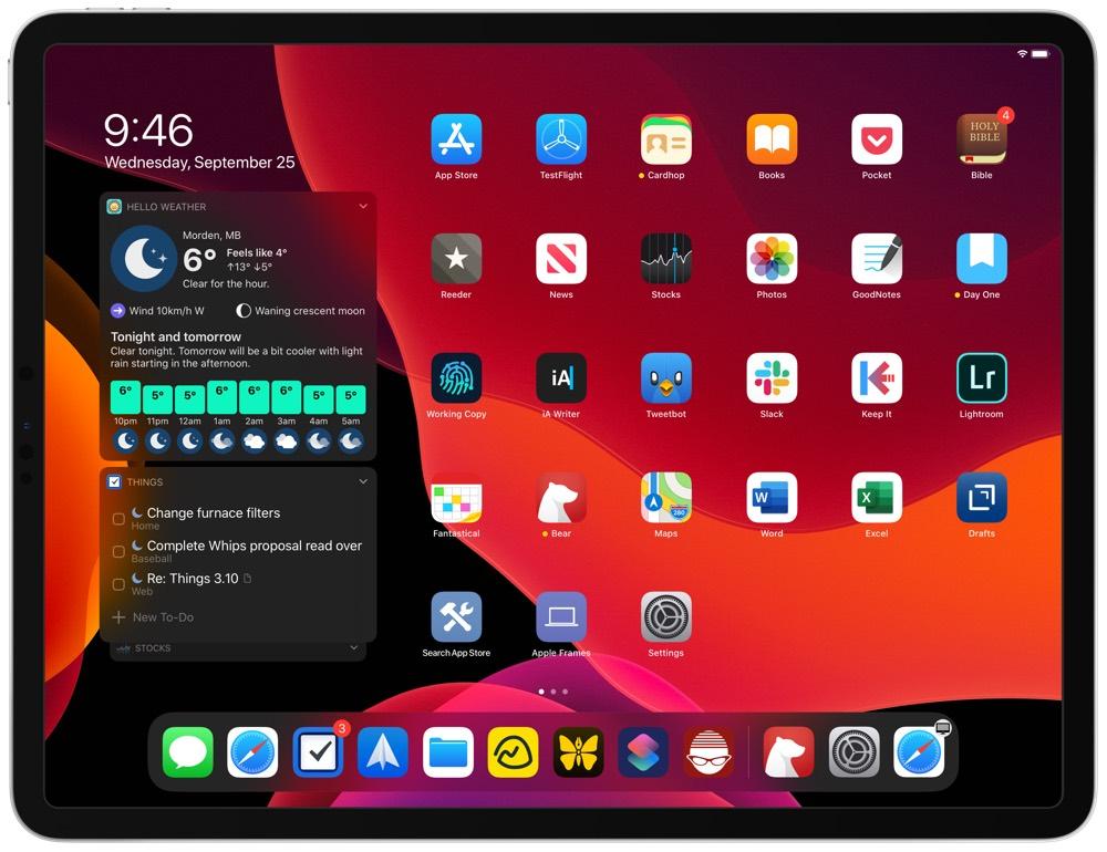 Things iPadOS Today Widget