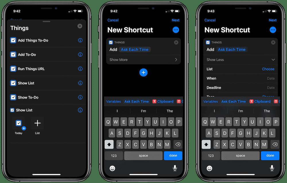 Things 3 Conversational Shortcuts