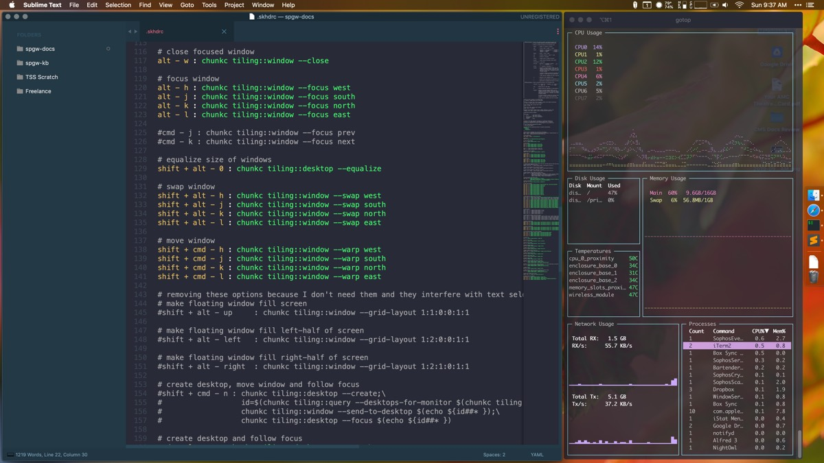 Amethyst Sublime Text and iTerm