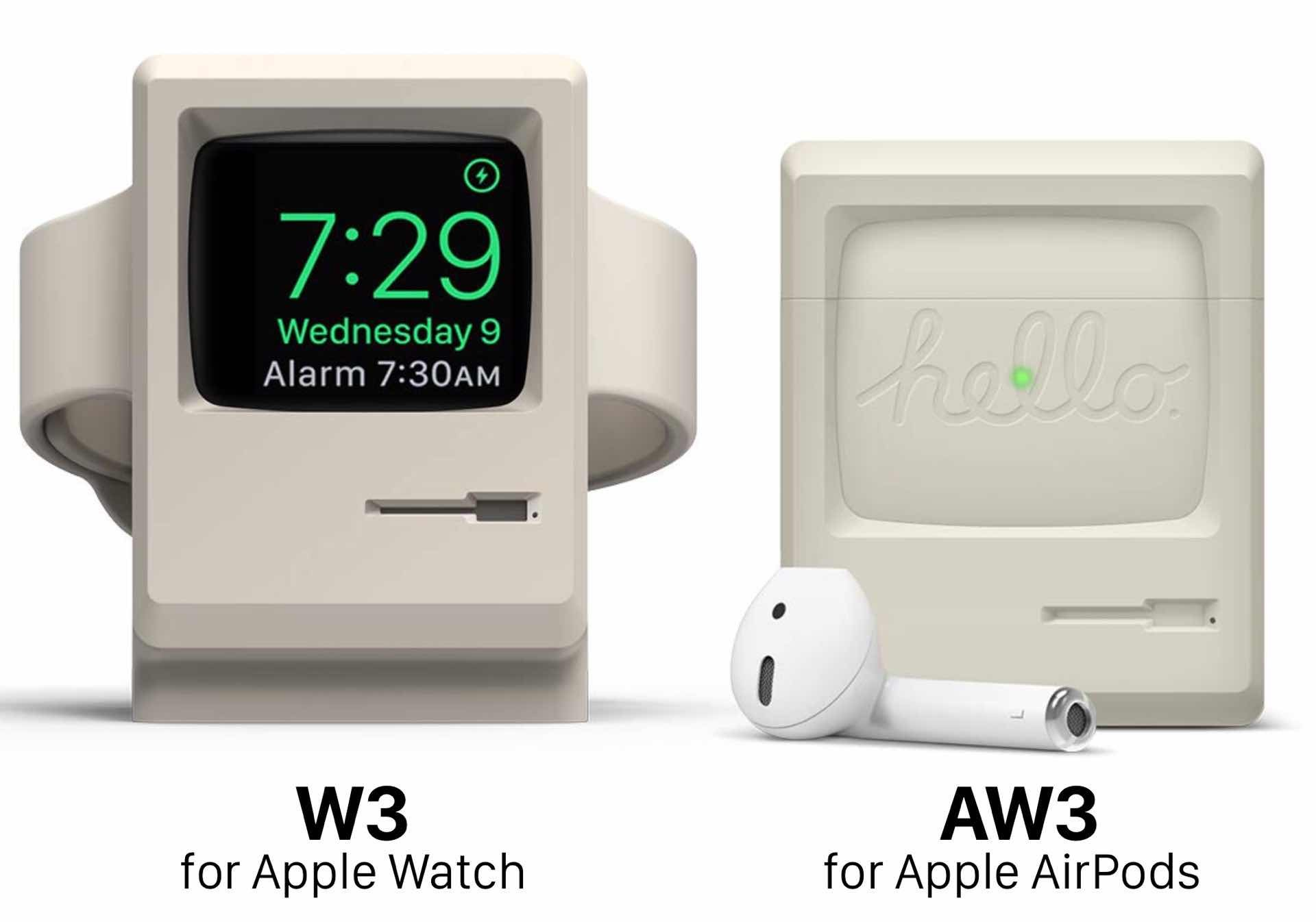 Elago AW3 for AirPods vs W3 for Apple Watch