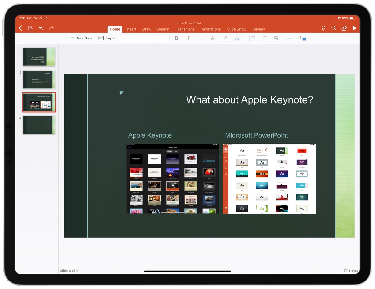 Apple Keynote vs MS PowerPoint
