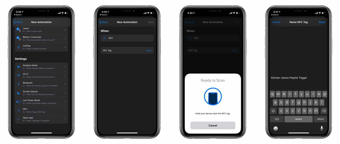 scanning and naming nfc tags on iPhone Shortcuts
