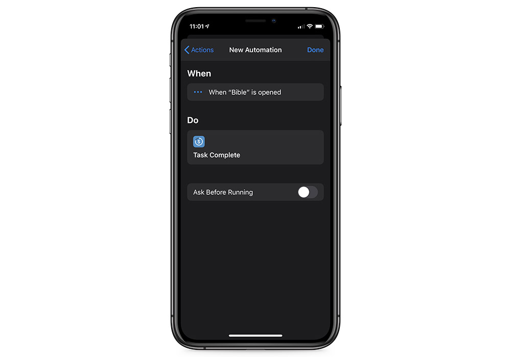 Shortcuts New Automation