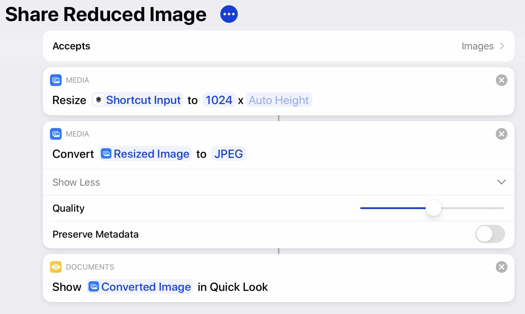 Jason Snell iPadOS and iOS shortcut share reduced image