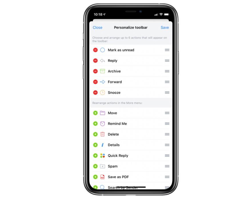 Spark iPhone Customization