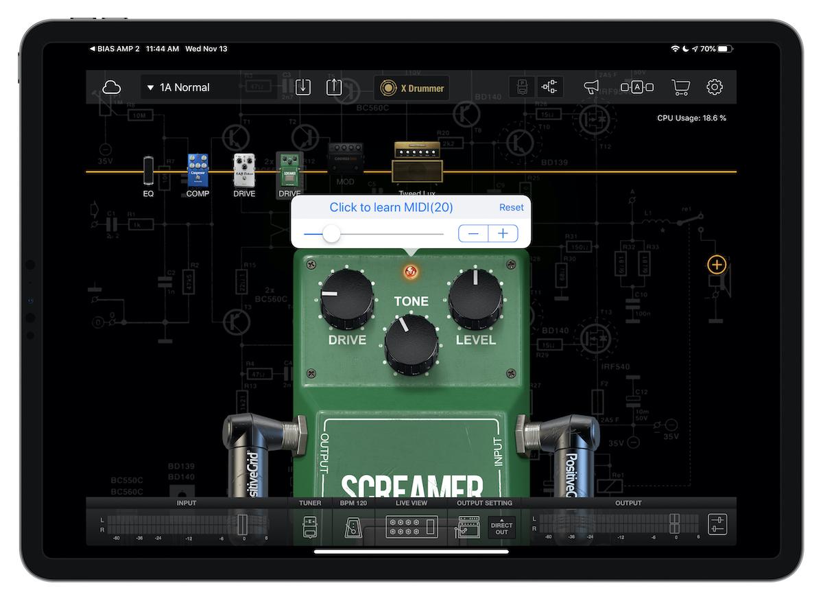 Bias FX MIDI setting