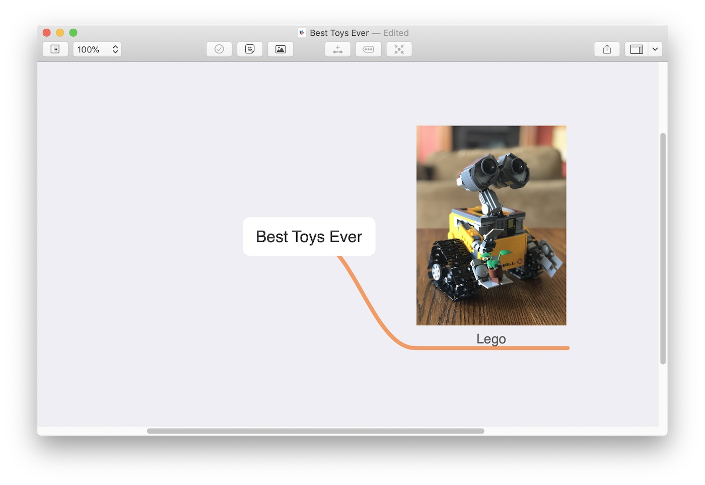 Attaching an image to a mind map in MindNode