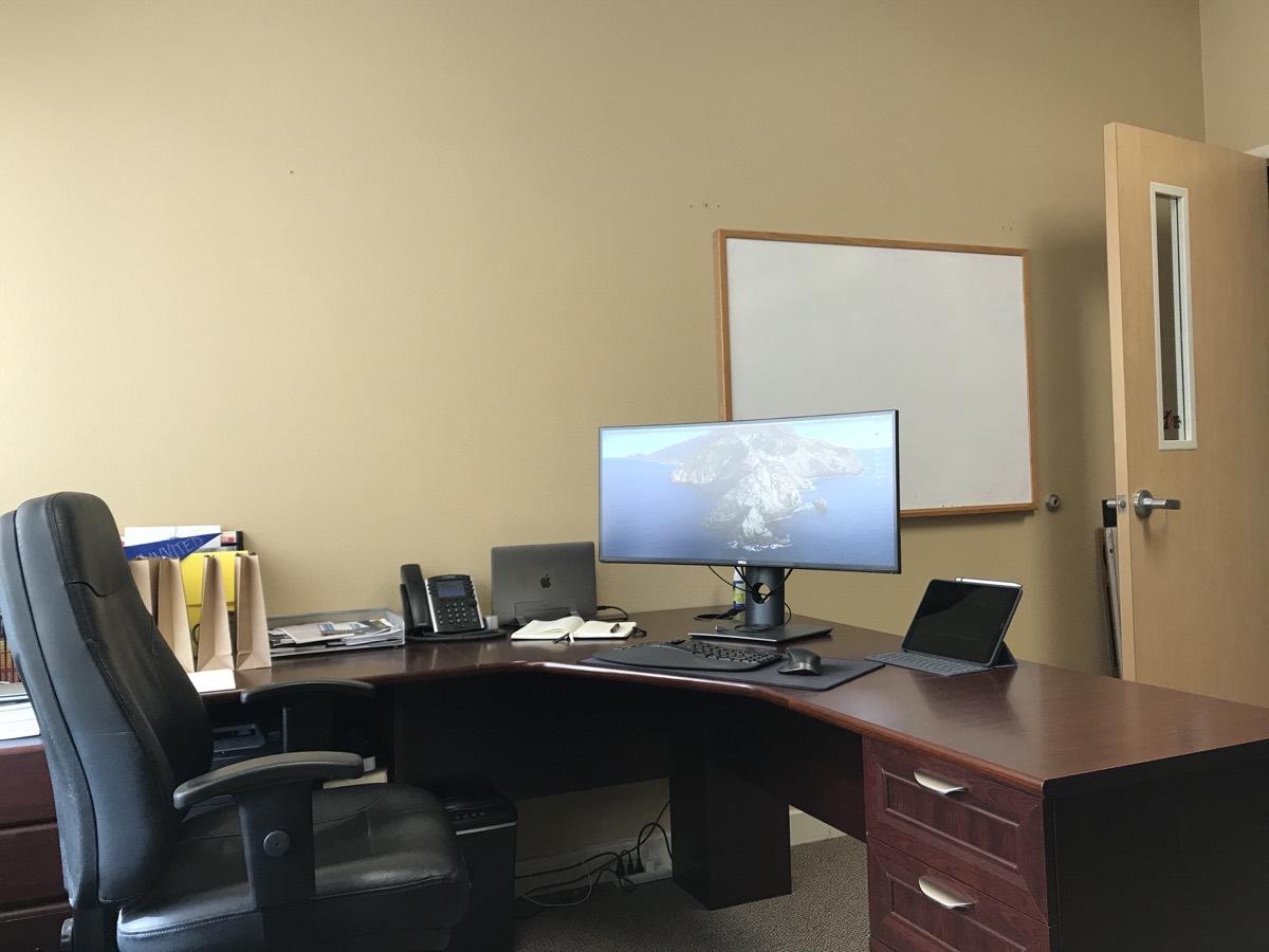 Kyle Bauman's full desk