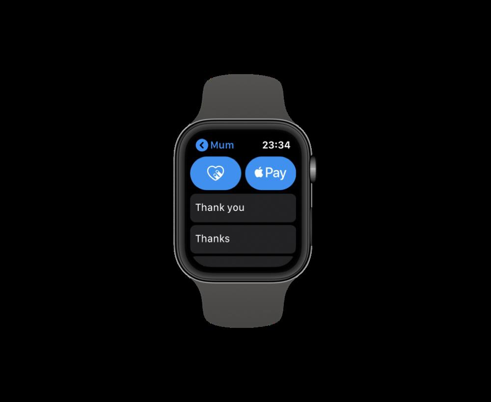 Quick Replies on Apple Watch