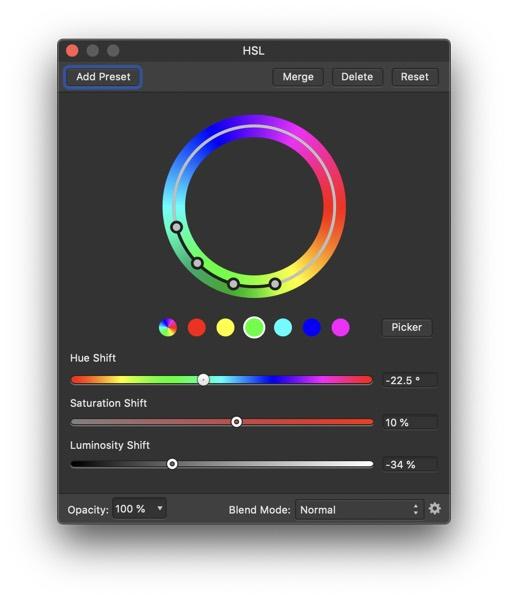 Affinity HSL tools