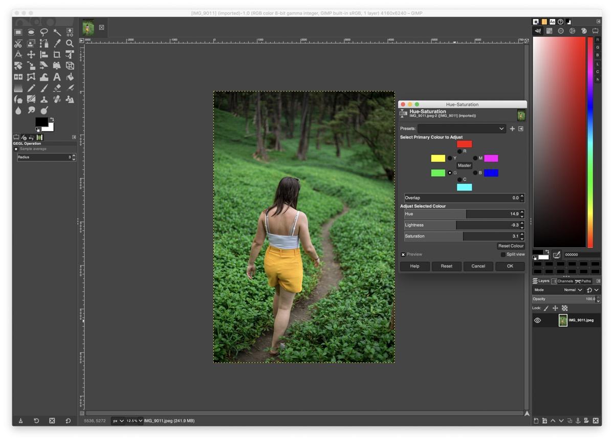 GNU Image Manipulation Program, or GIMP for short