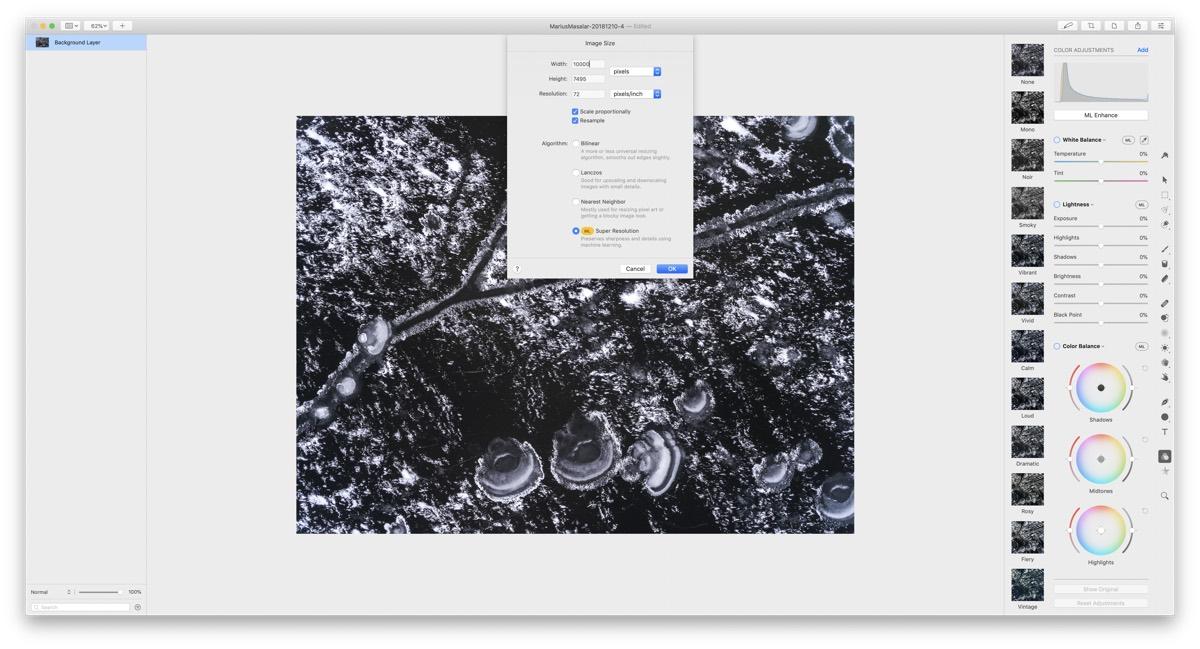 Pixelmator ML Super Resolution