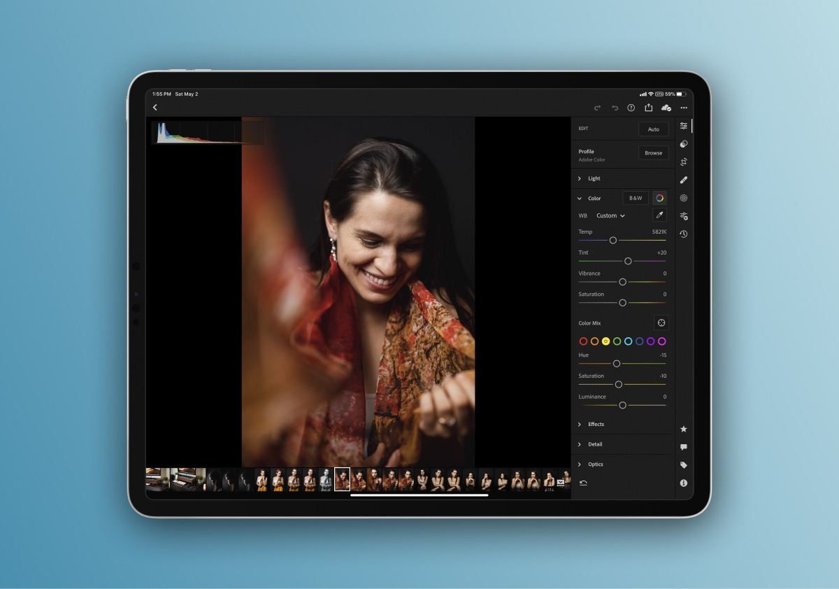 You can't go wrong with Lightroom's professional editing tools.