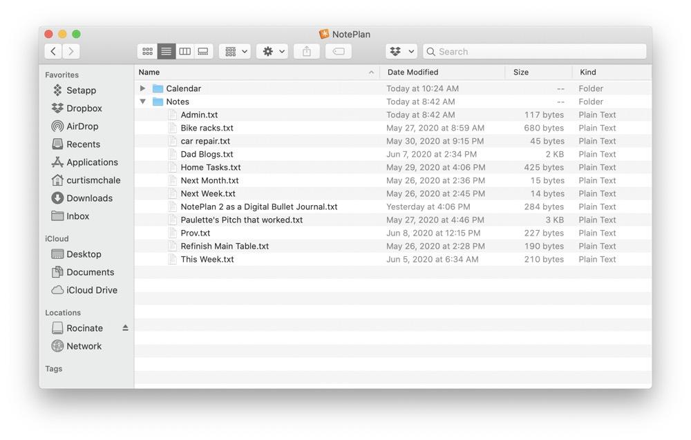 NotePlan 2 files