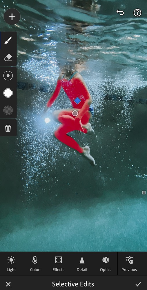 Screenshot of Selected Skin While Editing in Lightroom Mobile. (Second Color Correcting Pass on Skin)