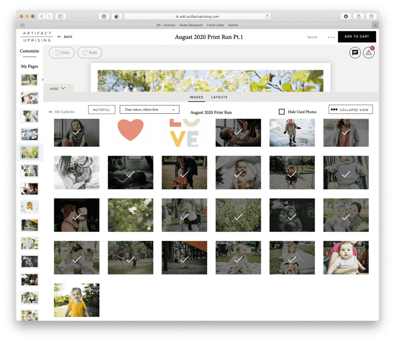 Adding Photos to Project