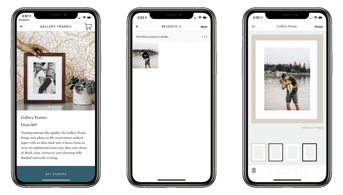 Editing Gallery Frame on iPhone