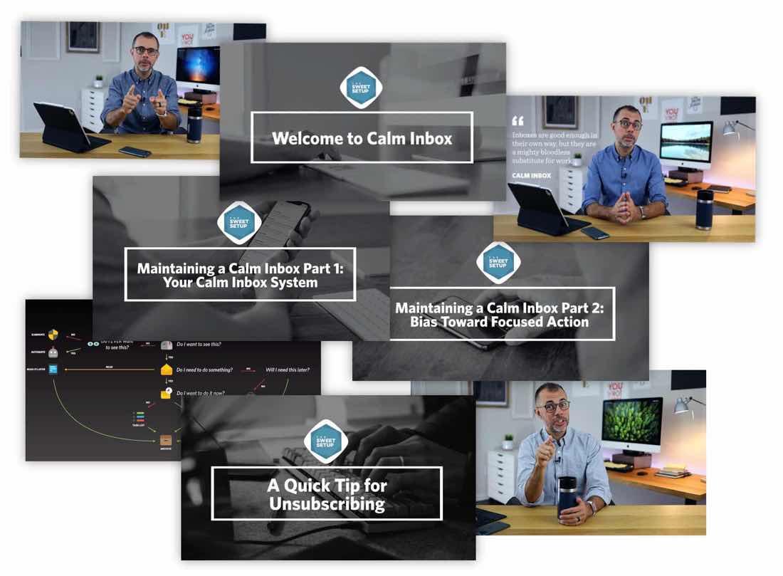 Calm Inbox video covers