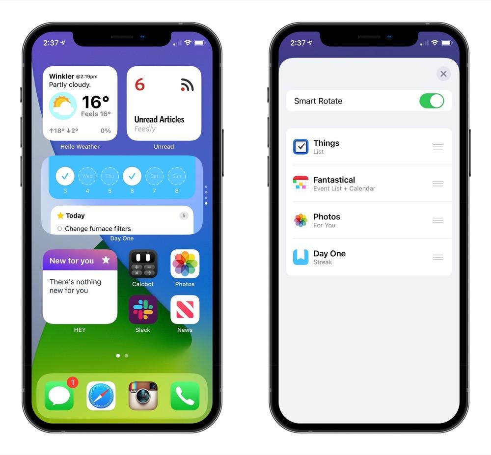 home widget iphone