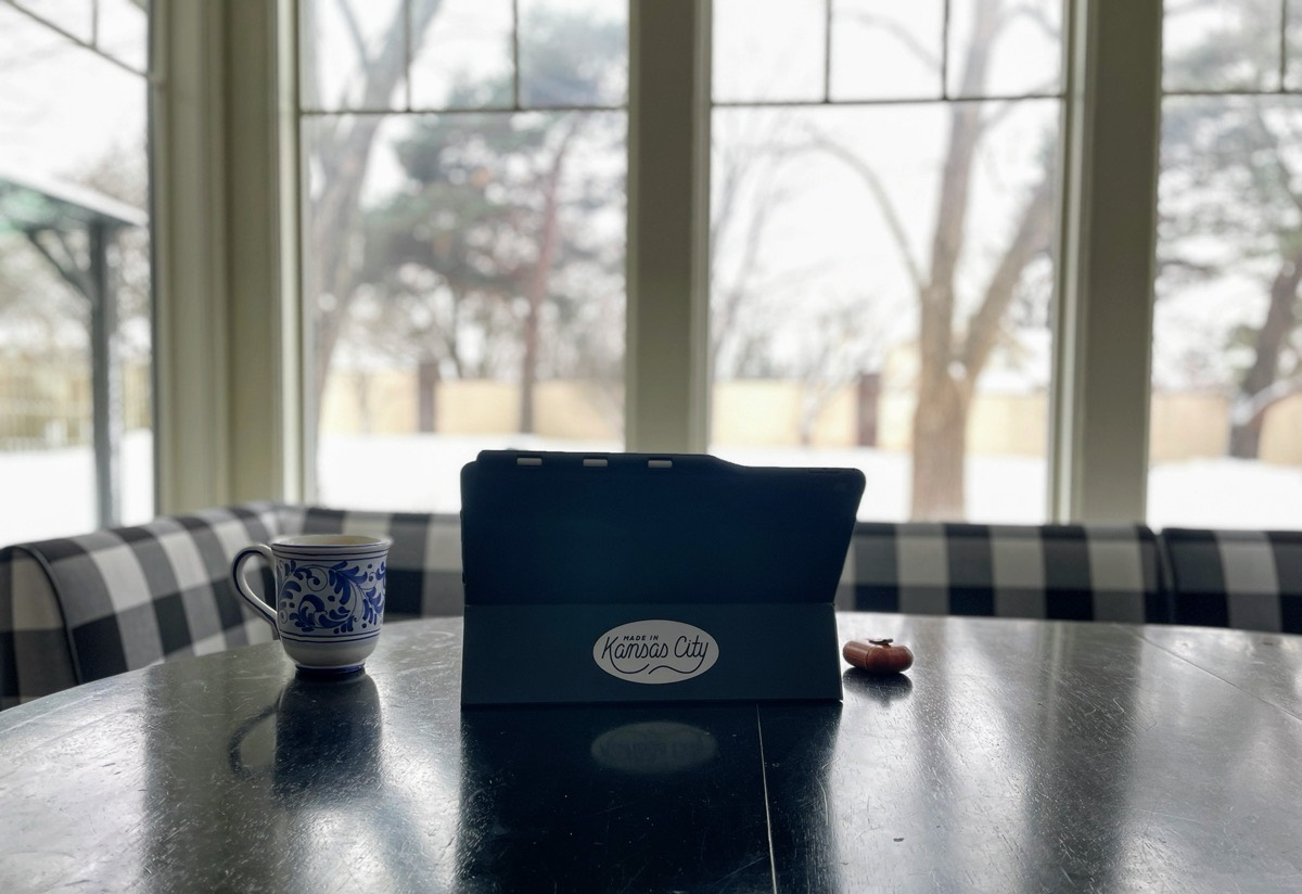 Bart Kesner's iPad in the kitchen