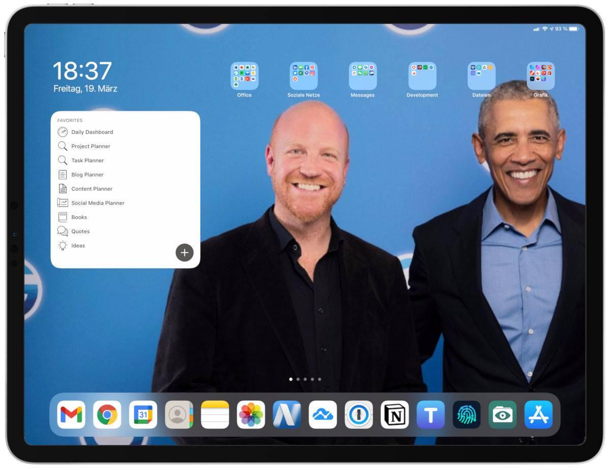 Richard Seidl's iPad