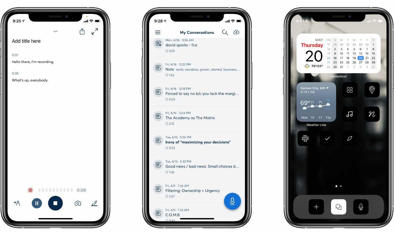 Otter Voice Memo iOS App