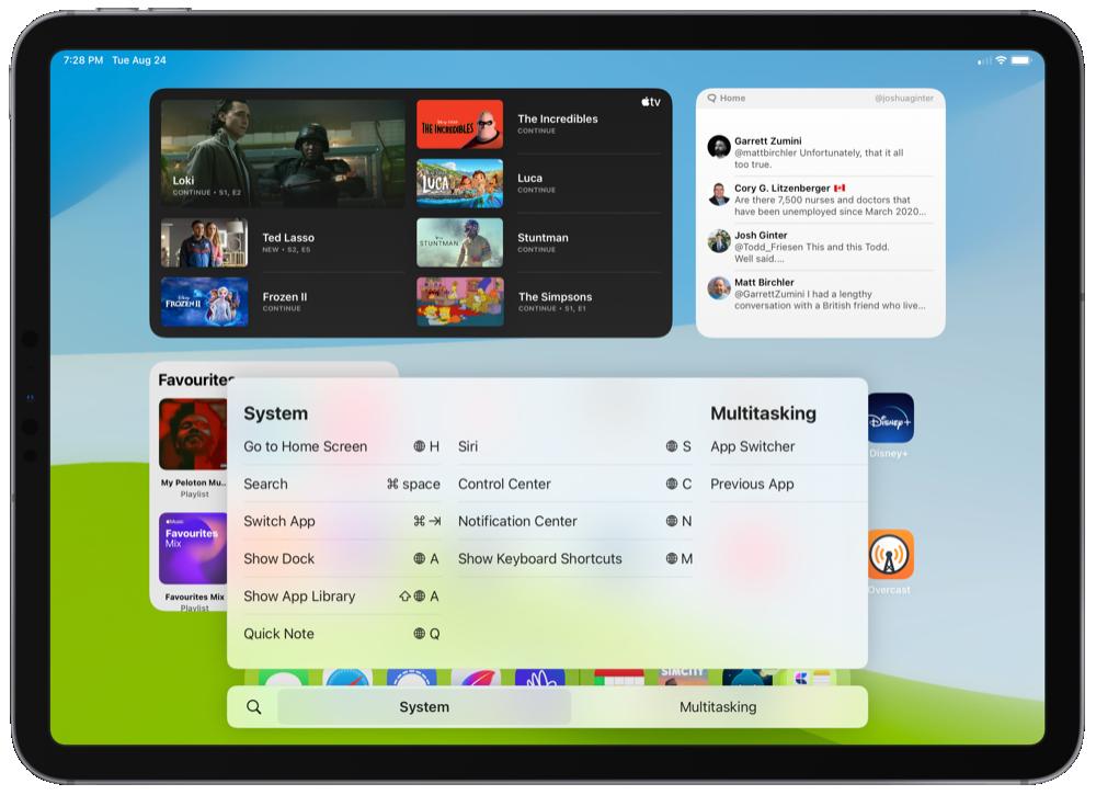 Global Keyboard Shortcuts for Multitasking in iPadOS 15